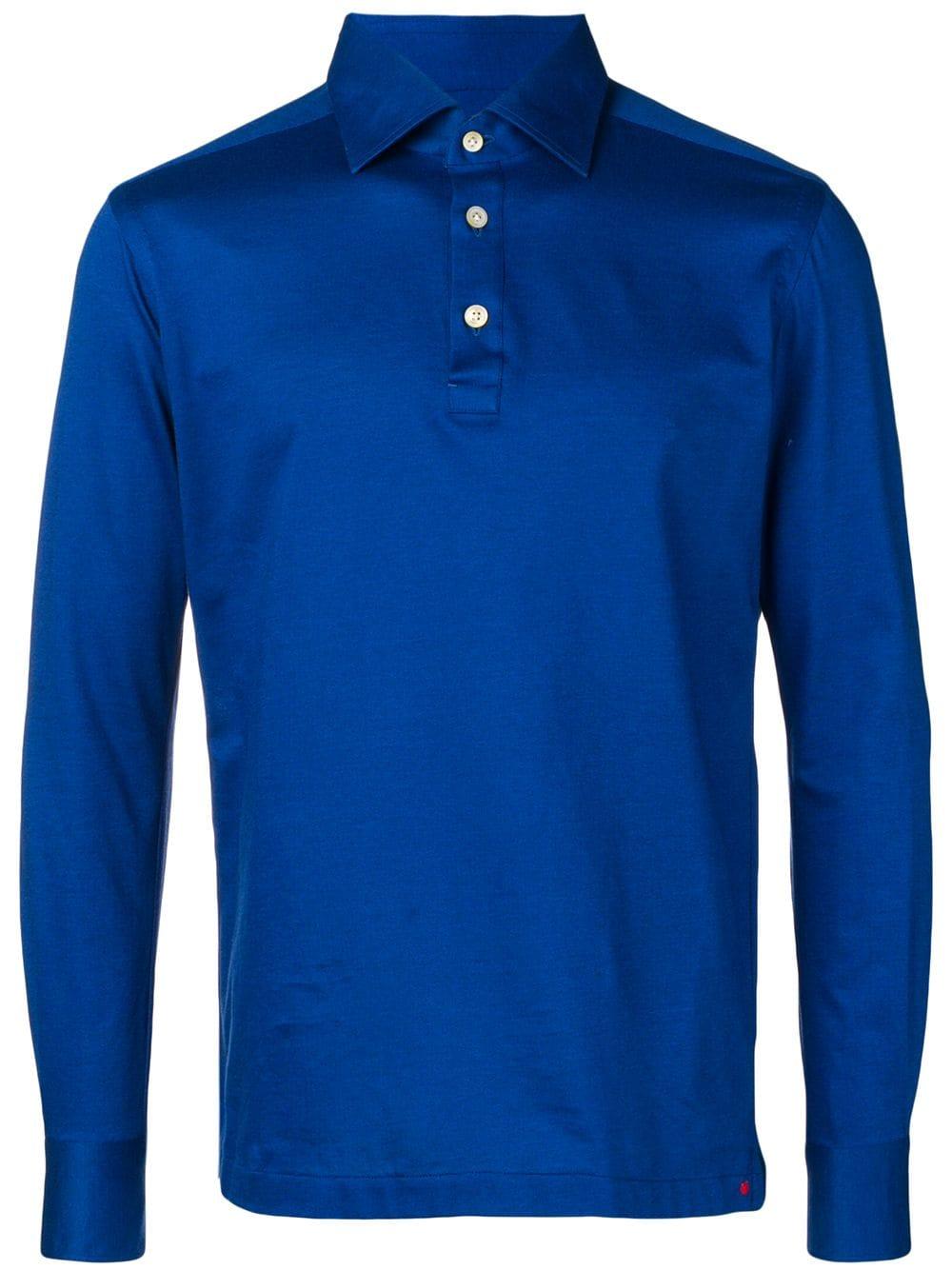 96d0fa481 Royal Blue Cotton Polo Shirt - KITON - Russocapri