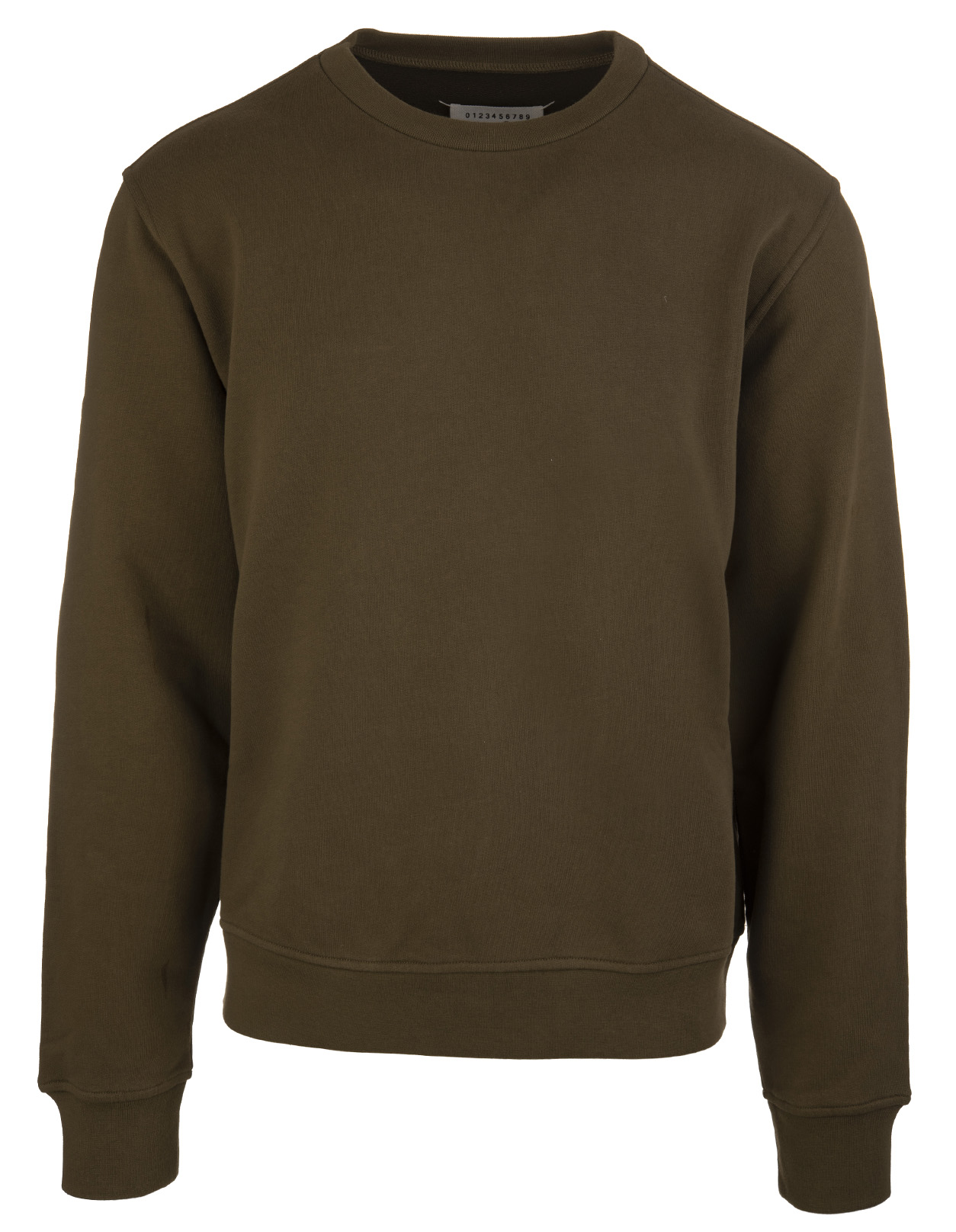 b5d81a83 Olive Green Sweatshirt With Elbows - MAISON MARGIELA - Russocapri