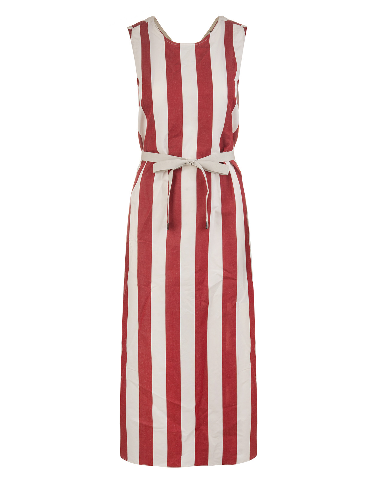 991d4057e03 White And Red Boccale Dress - MAX MARA - Russocapri