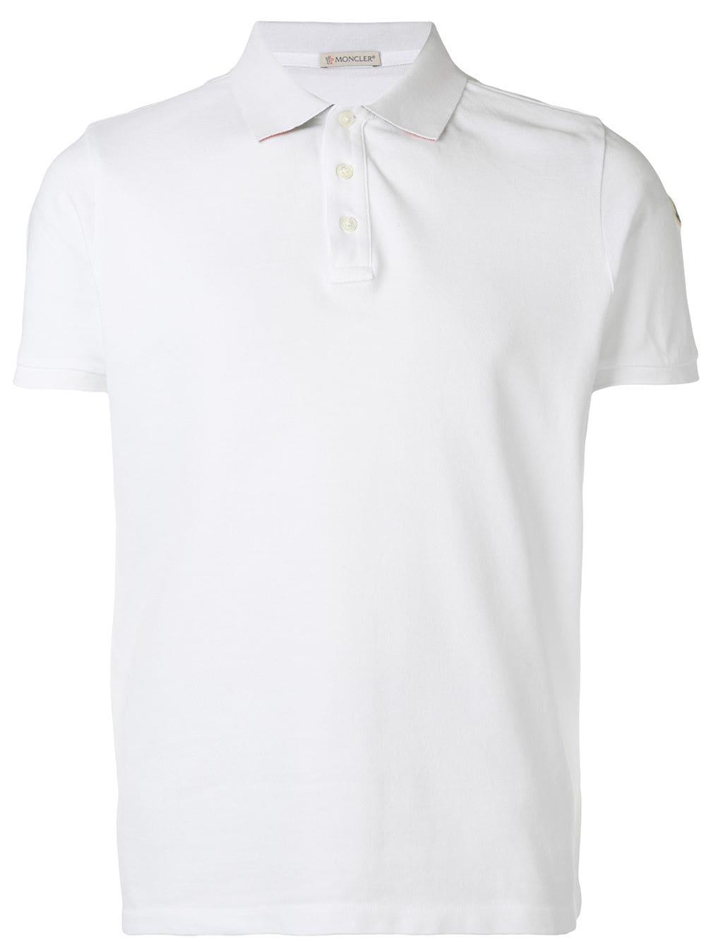 302a9d54a White Classic Polo Shirt - MONCLER - Russocapri