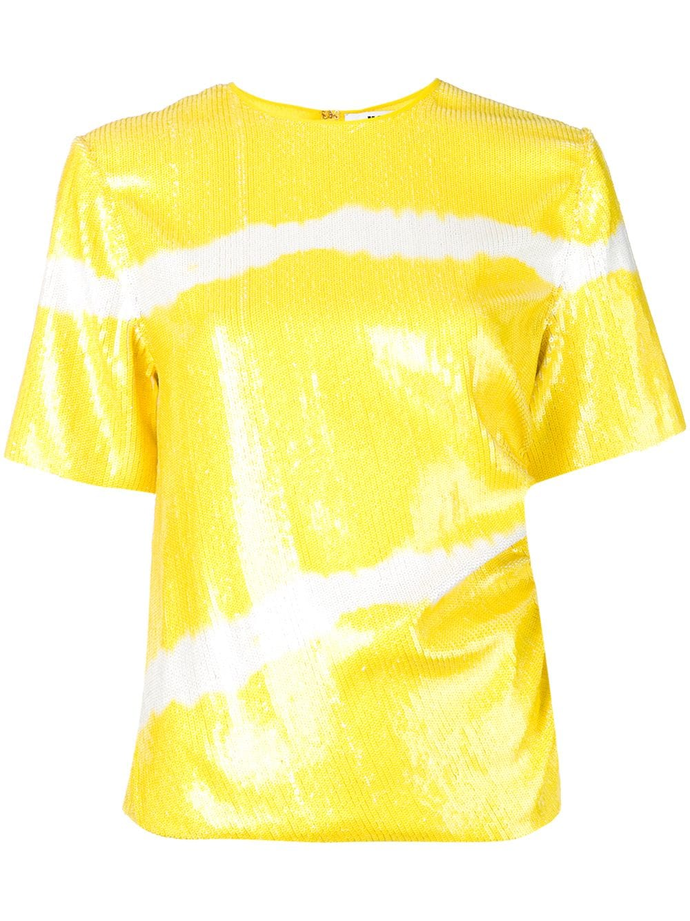 ce530f6c042bab Striped Yellow Shirt With Sequins - MSGM - Russocapri