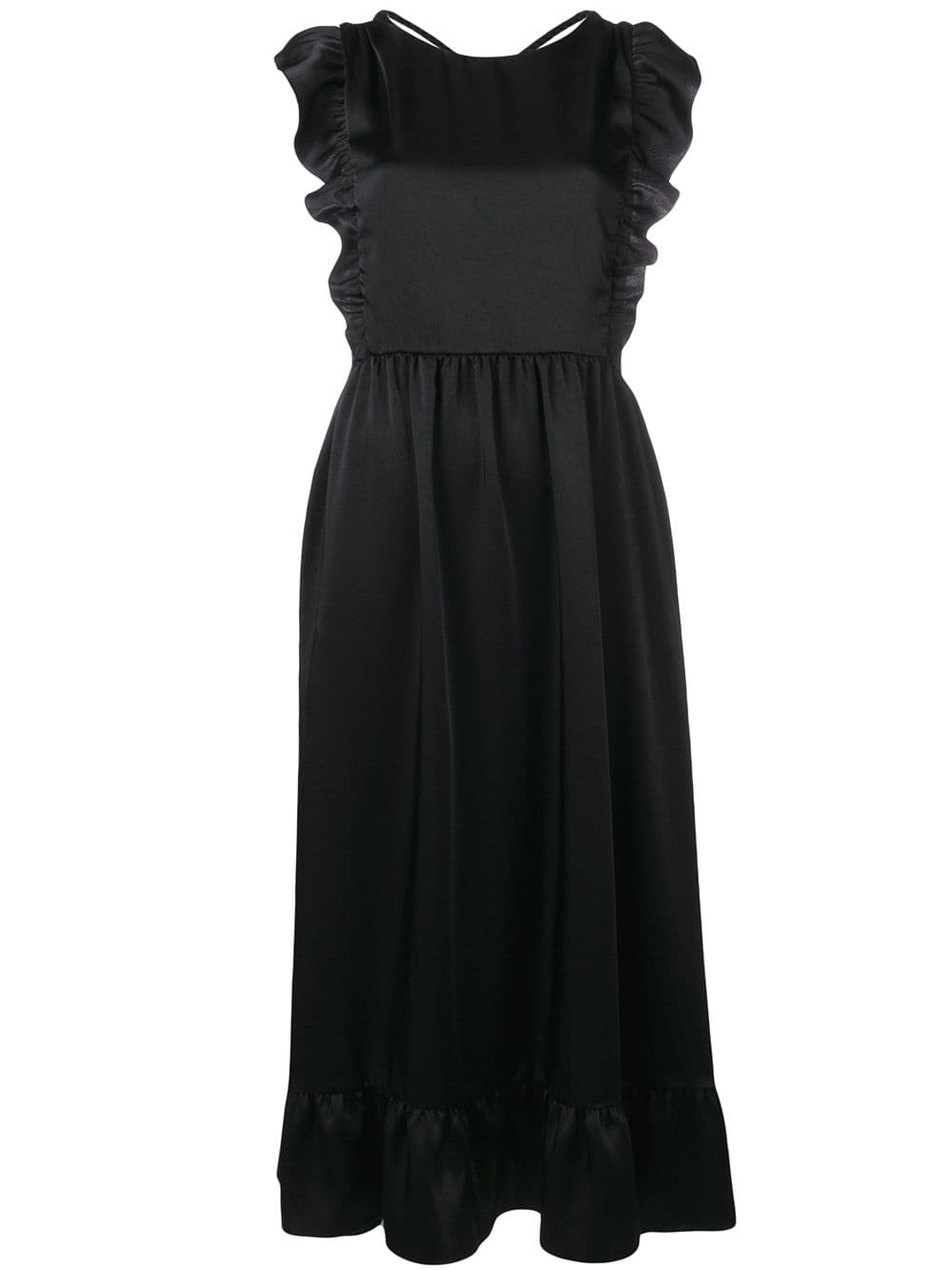 7738fe66237 Black Dress With Open Back - RED VALENTINO - Russocapri