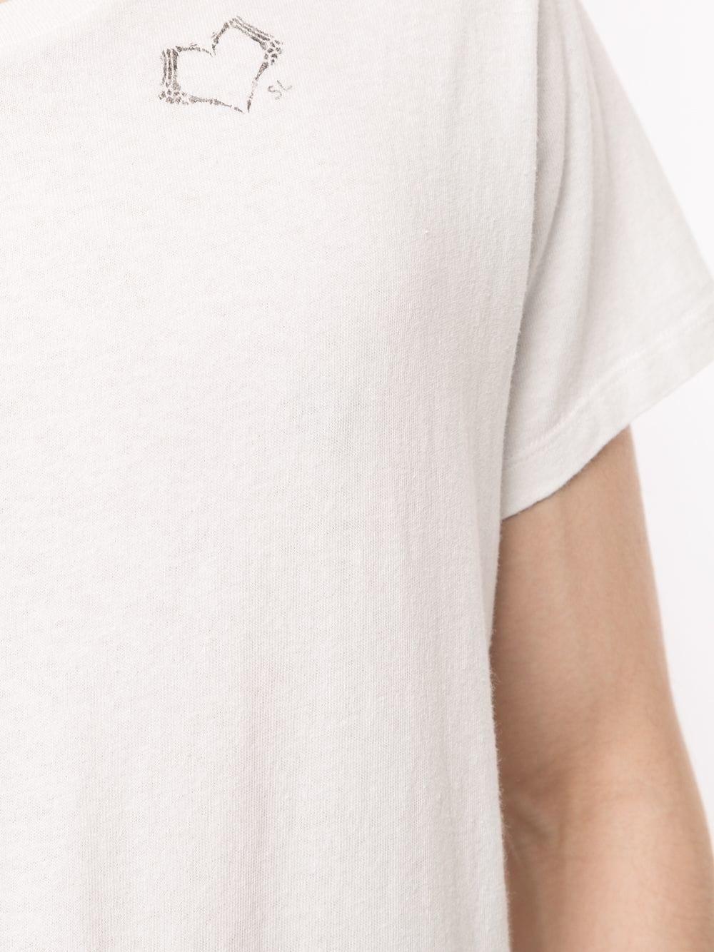 57fd8a95517 White Cotton T-Shirt with Printed Logo - SAINT LAURENT - Russocapri