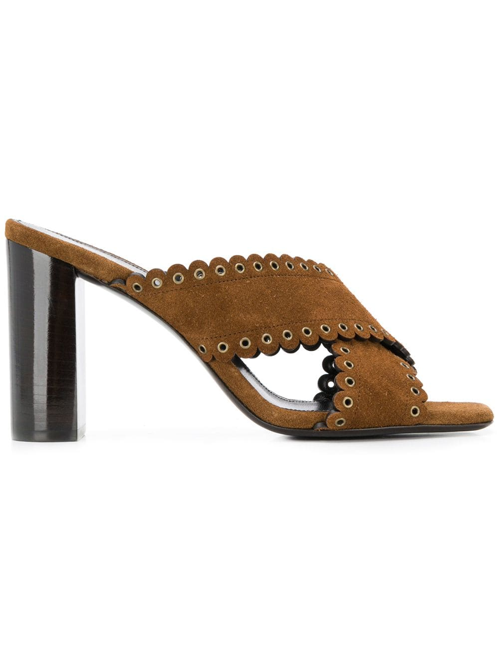 42d11d3b1a38 Brown Loulou Sandals - SAINT LAURENT - Russocapri