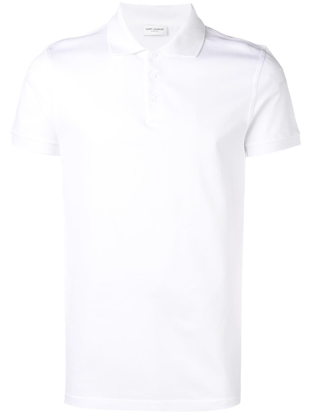 461c53bd95fa06 Polo Shirt in White Cotton - SAINT LAURENT - Russocapri