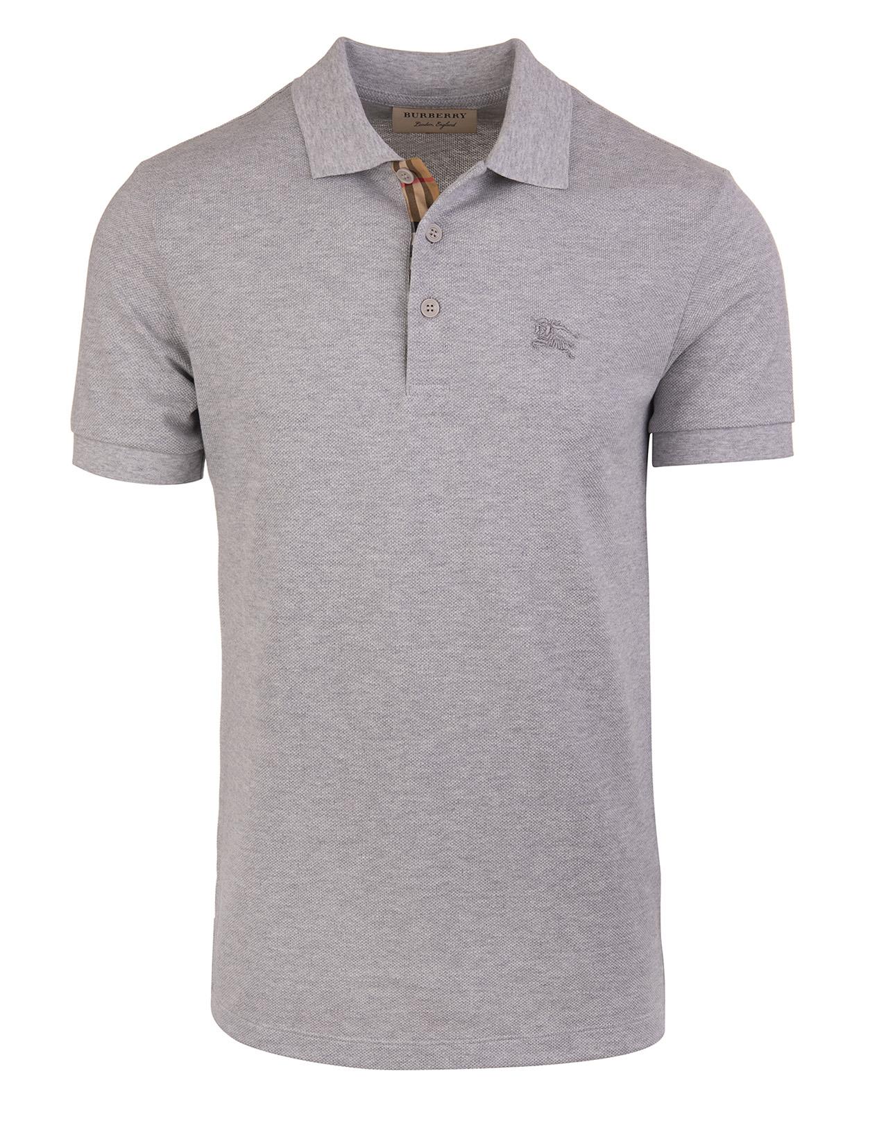 974ed34fb Grey Classic Polo Shirt With Tartan Placket - BURBERRY - Russocapri