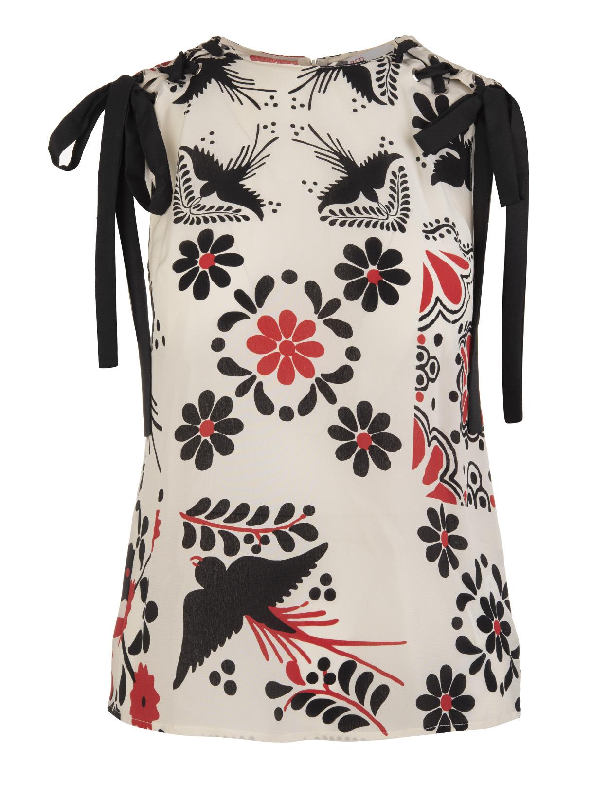 f775c4721e5 Terrazzo Decorato Print silk Top - RED VALENTINO - Russocapri
