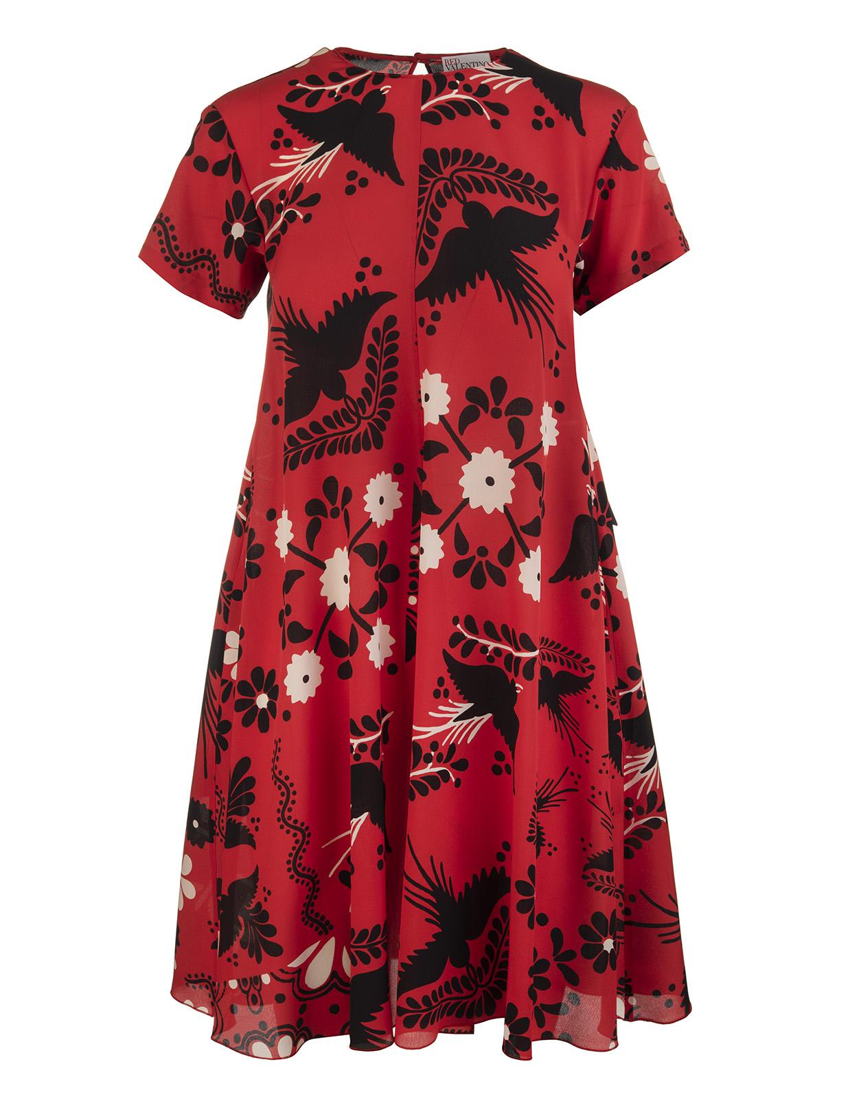 4dcb2dcc14e  Terrazzo Decorato  Print Midi Dress - RED VALENTINO - Russocapri