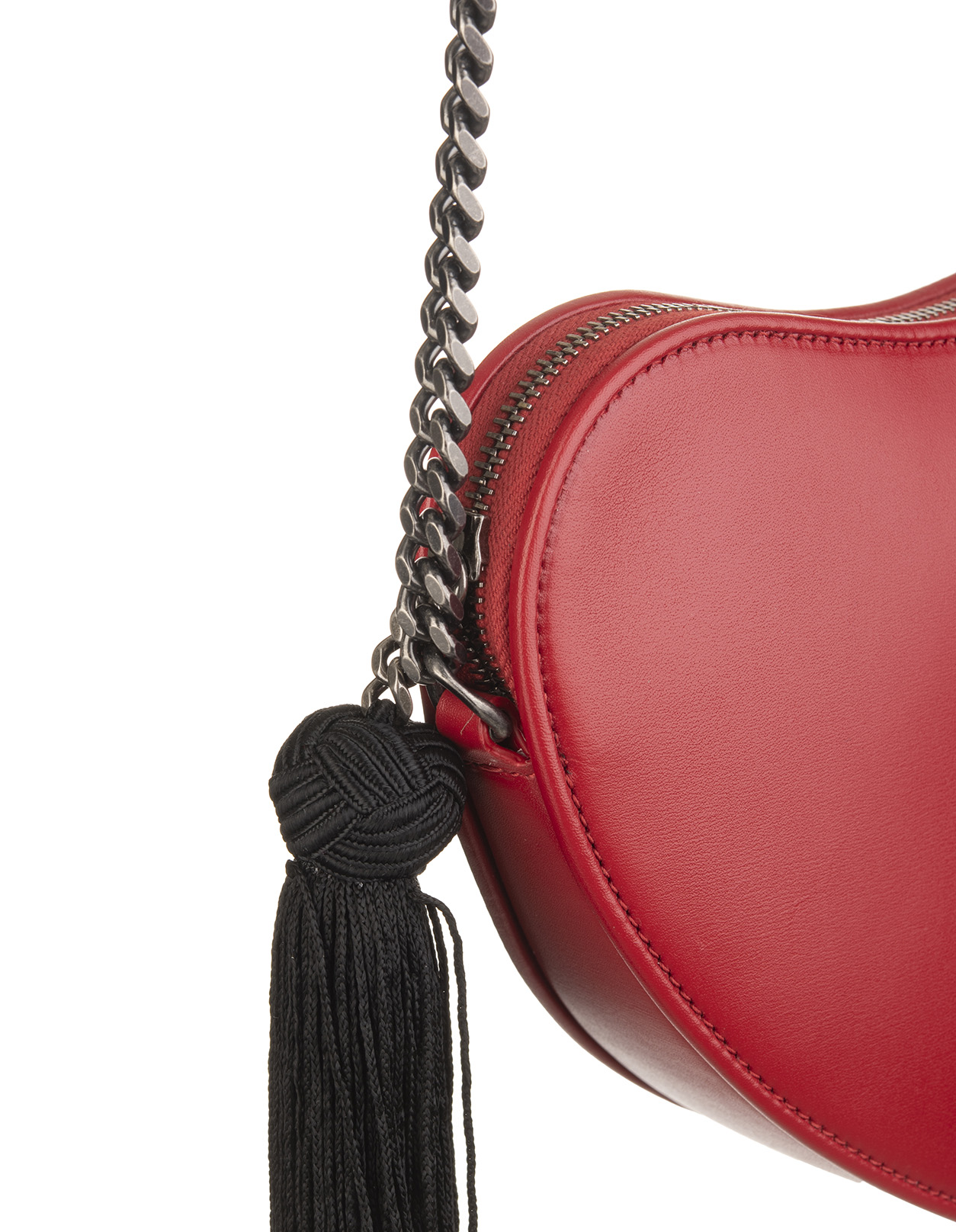 f54456240 Heart Monogram Bag with CrossBelt Red - SAINT LAURENT - Russocapri