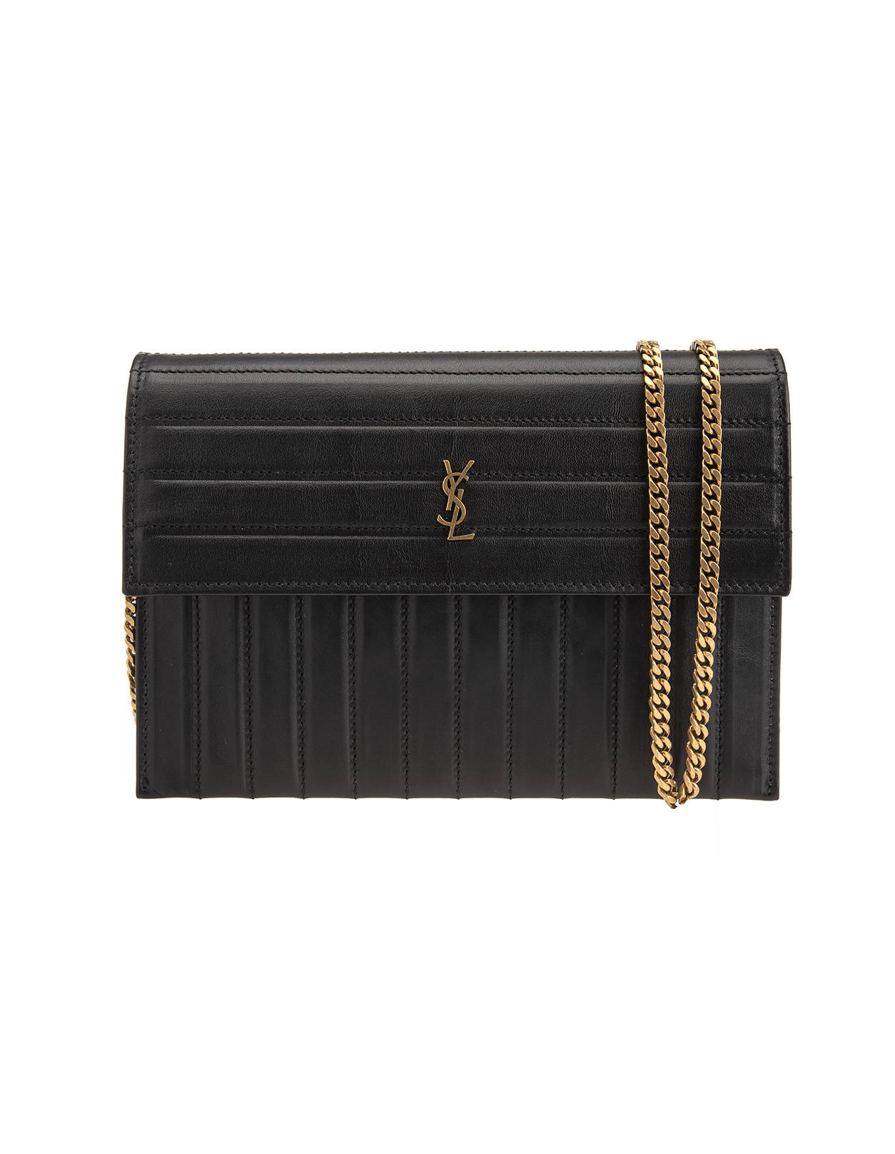 ba477d2ef1de Black Victoire Quilted-Leather Crossbody Bag - SAINT LAURENT - Russocapri
