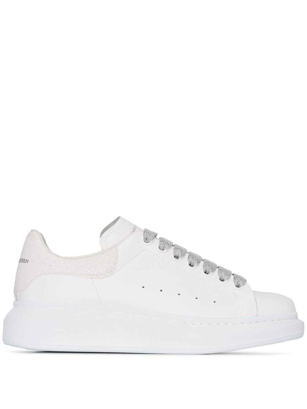 Women's White Oversize Sneakers With