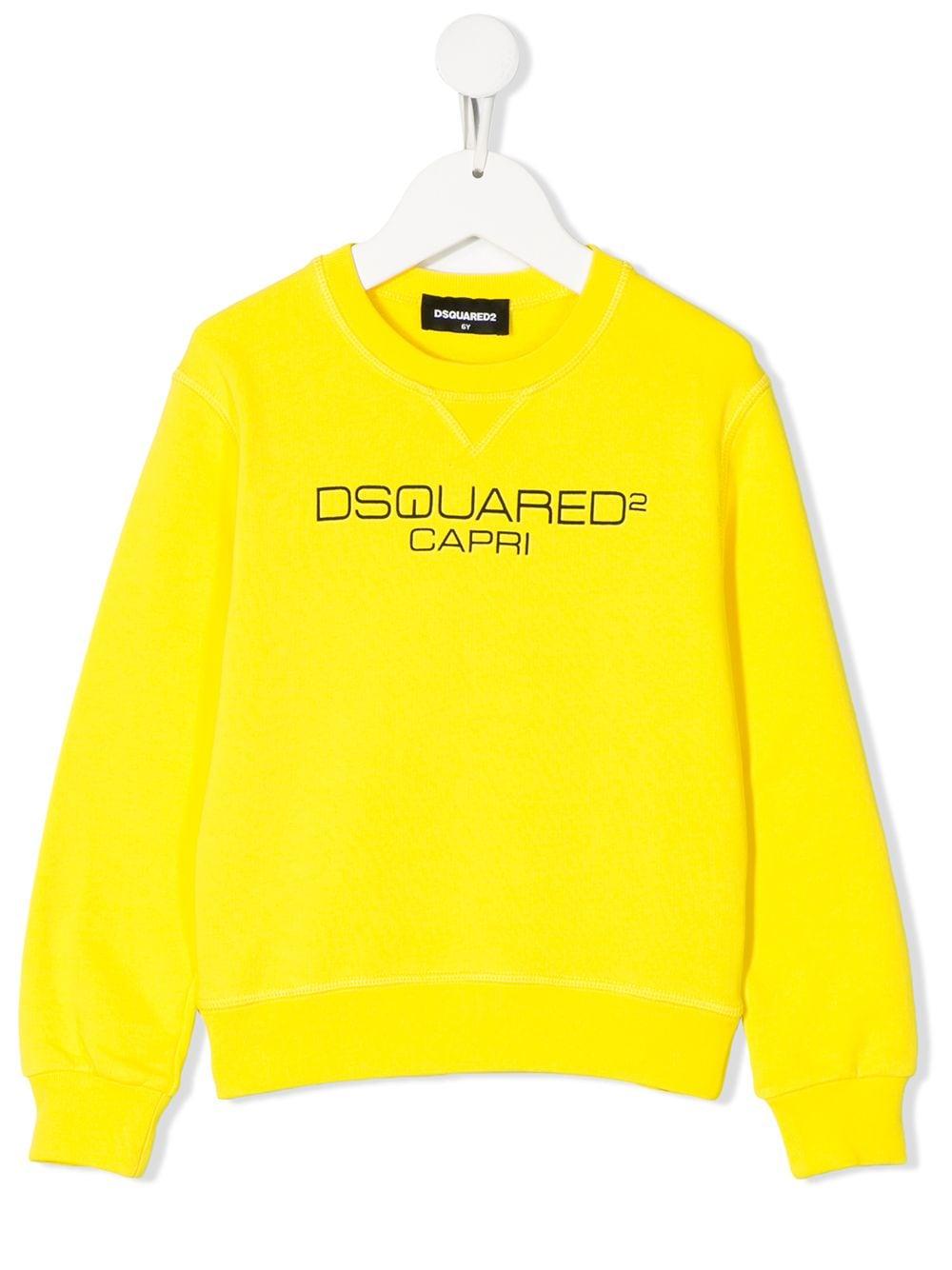 dsquared yellow sweatshirt
