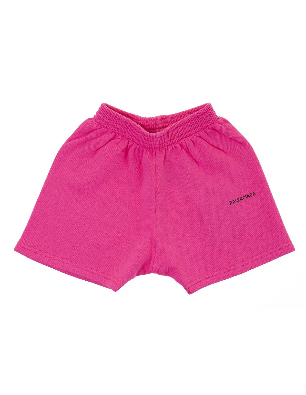 Fuchsia Kid Shorts With Logo