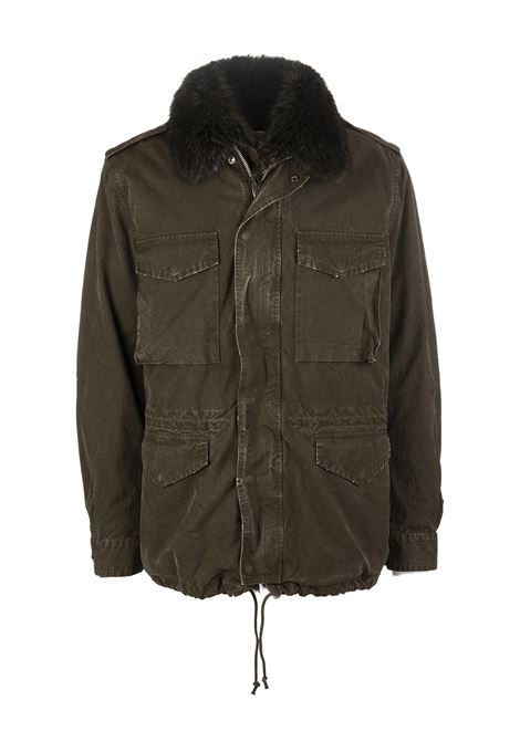 Military Green men's parka GIOVI   Denim Jackets   PK18302/9494