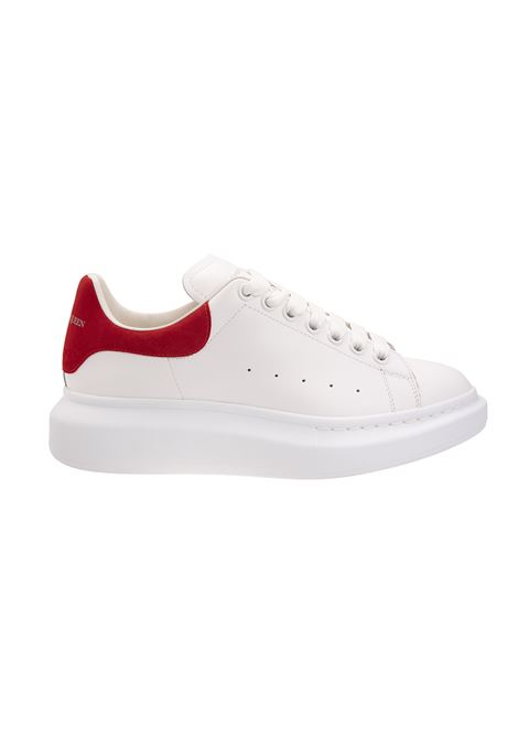 White Oversize Sneakers With Red Spoiler - ALEXANDER MCQUEEN - Russocapri