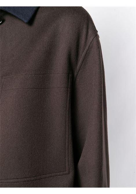 newest collection 7a445 ebd20 Blue And Brown Cashmere Coat - JIL SANDER - Russocapri