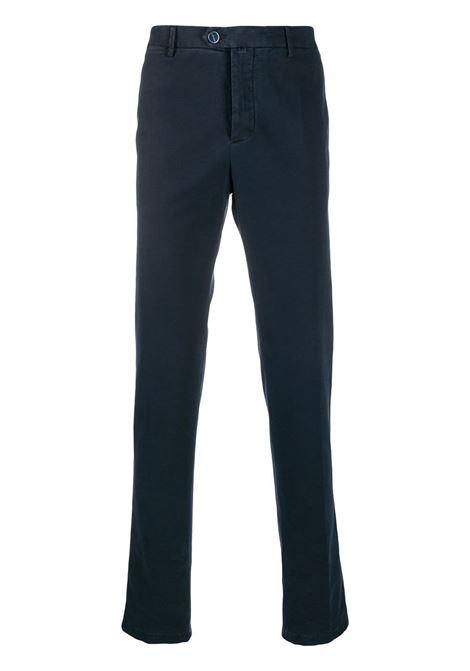 Dark Blue Straight Pants KITON | trousers | UFPP79J03S6118