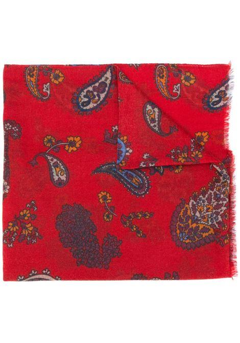 nuovo arrivo 04352 fb192 Sciarpa Rossa Con Stampa Paisley - KITON - Russocapri