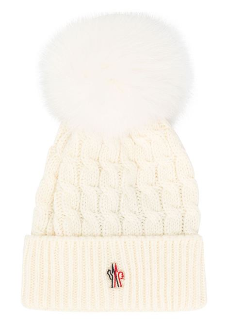 f54c6cb0c White Wool Hat With Pompon - MONCLER GRENOBLE - Russocapri