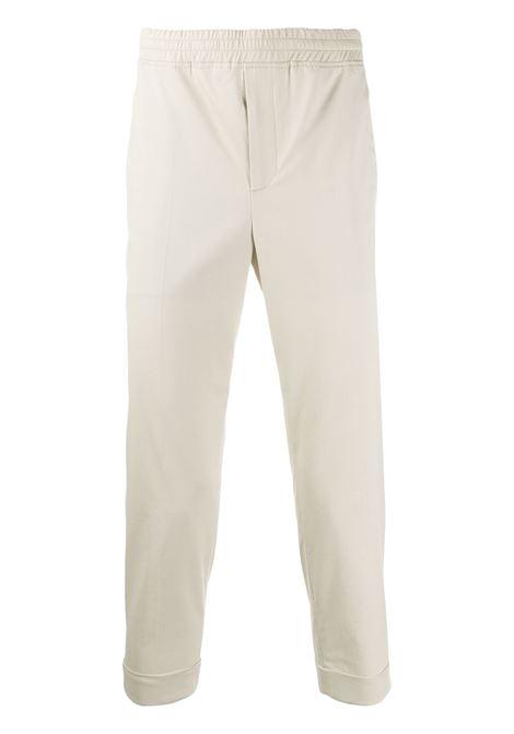 Pantalone A Gamba Dritta Cropped Beige Chiaro NEIL BARRETT | Pantaloni | PBPA635H-M058171