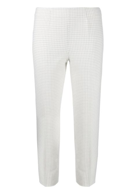 White Check Capri Audrey Pants PIAZZA SEMPIONE | trousers | PP315-33208010