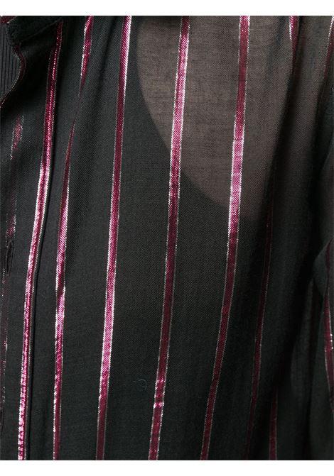 400fa4354d Camicia Nera Con Righe Lame' Rosa - SAINT LAURENT - Russocapri
