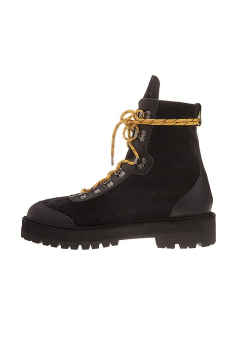 20d541f37d4 Black Hiking Boots With Yellow Laces - OFF-WHITE - Russocapri