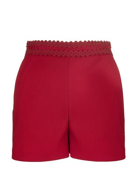 Shorts Rosso Con Dettagli In Tono RED VALENTINO | Shorts | SR3RFB421Y1D05