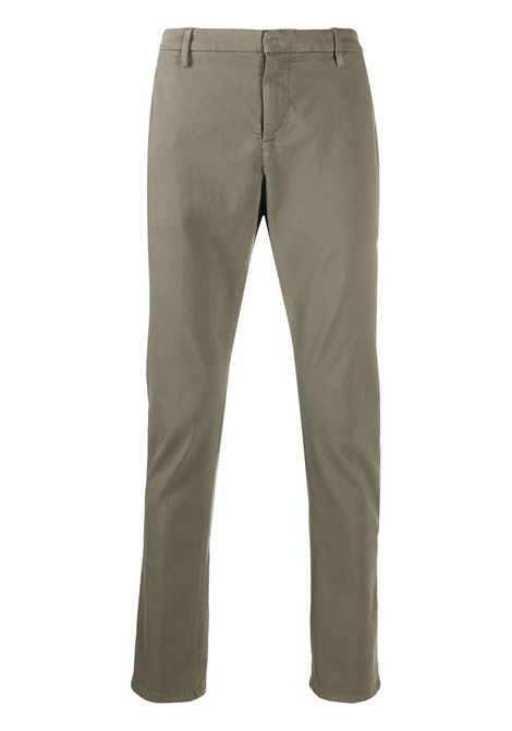 Man Slim Gaubert Pant In Taupe Stretch Satin DONDUP | trousers | UP235-RSE032 PT0636