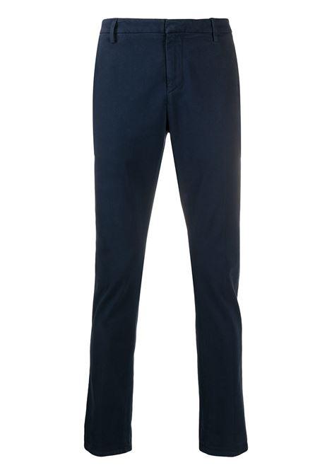 Man Slim Gaubert Pant In Blue Stretch Satin DONDUP   trousers   UP235-RSE032 PT0853