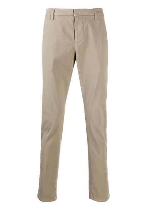 Man Slim Gaubert Pant In Beige Stretch Satin DONDUP | trousers | UP235-RSE032 PT0920
