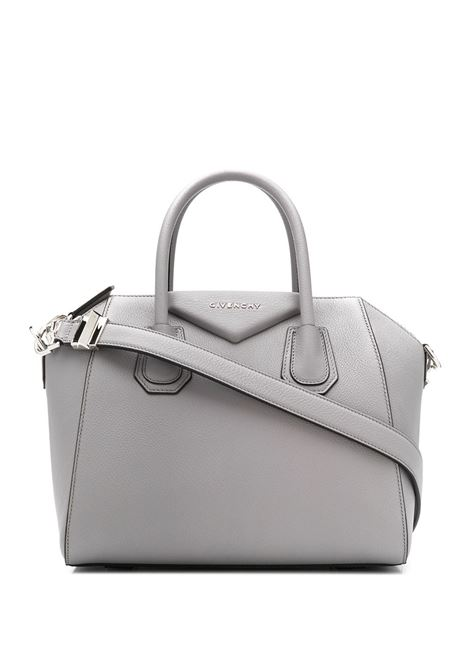 Small Antigona Bag In Pearl Grey Grain Leather GIVENCHY | hand bags | BB05117012058