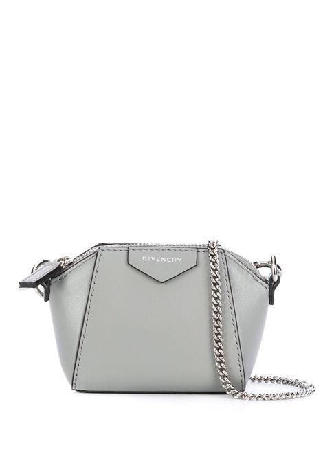 Pearl Grey Baby Antigona Bag With Chain GIVENCHY | mini bags | BB60D7B0XN058