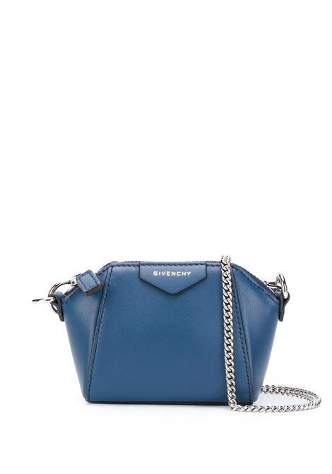 Linden Blue Baby Antigona Bag With Chain GIVENCHY | mini bags | BB60D7B0XN498