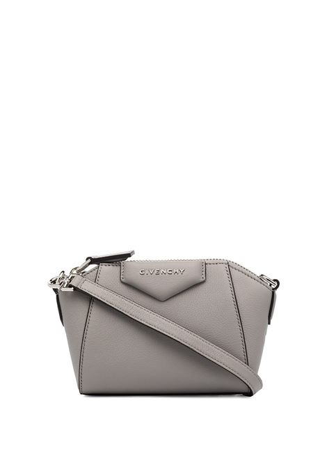 Nano Antigona Bag In Pearl Grey Grain Leather GIVENCHY | mini bags | BBU017B00B058