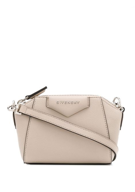 Nano Antigona Bag In Sand Grain Leather GIVENCHY | mini bags | BBU017B00B292