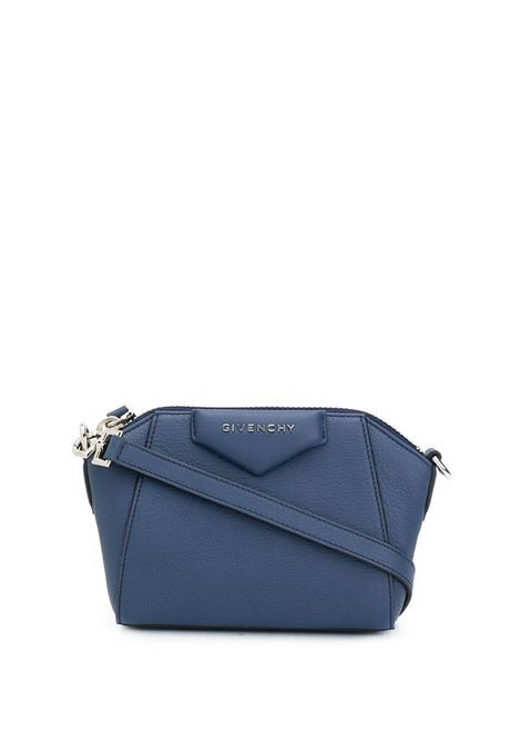 Nano Antigona Bag In Blue Grain Leather GIVENCHY | mini bags | BBU017B00B498