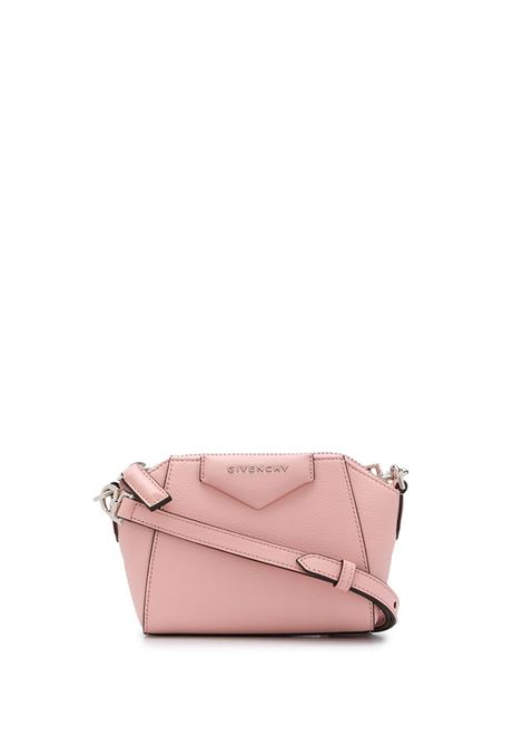 Nano Antigona Bag In Candy Pink Grain Leather GIVENCHY | mini bags | BBU017B00B662