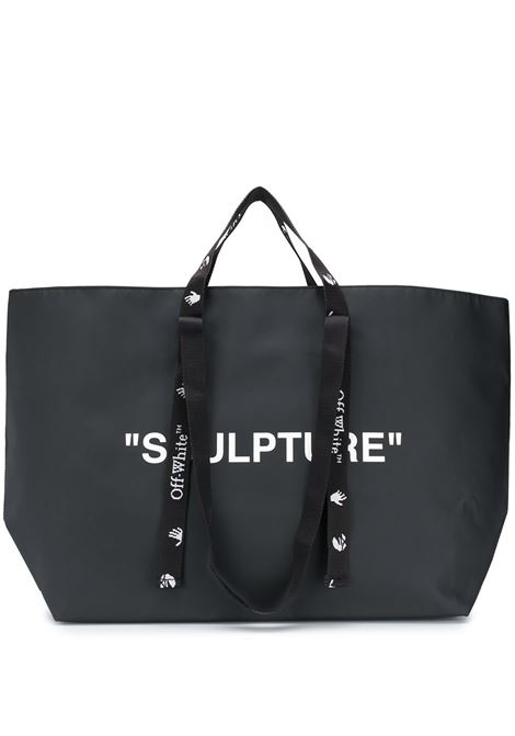 Black SCULPTURE Commercial Tote Bag