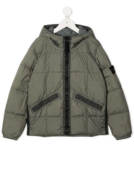Stone Grey Garment Dyed Crinkle Reps NY Kid Jacket STONE ISLAND JUNIOR |  | 731640333V0068