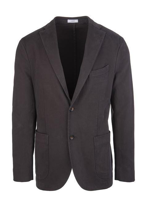Dark Brown Man Slim Jacket In Cotton Blend BOGLIOLI   jackets   N1302Q-BBP4220483