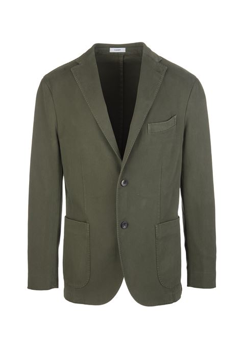 Military Green Man Slim Jacket In Cotton Blend BOGLIOLI | jackets | N1302Q-BBP4220582