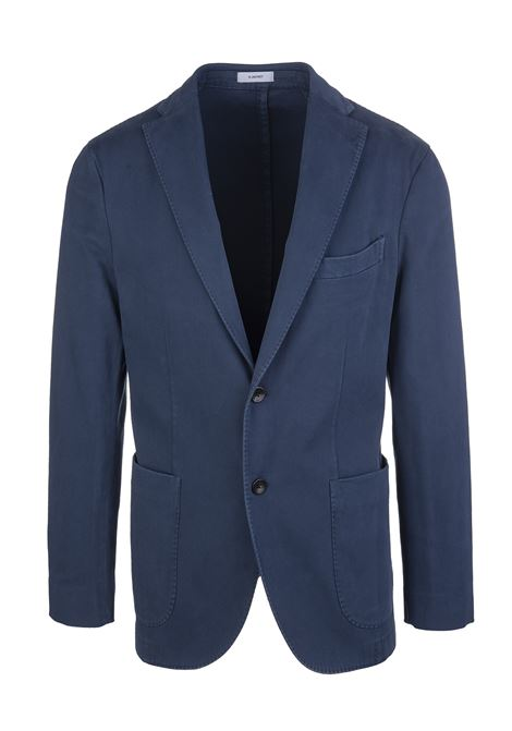 Blue Man Slim Jacket In Cotton Blend BOGLIOLI | jackets | N1302Q-BBP4220764