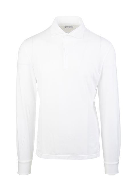 White Long Sleeve Man Polo Shirt FEDELI | Polo shirts | 2UIF0220R41