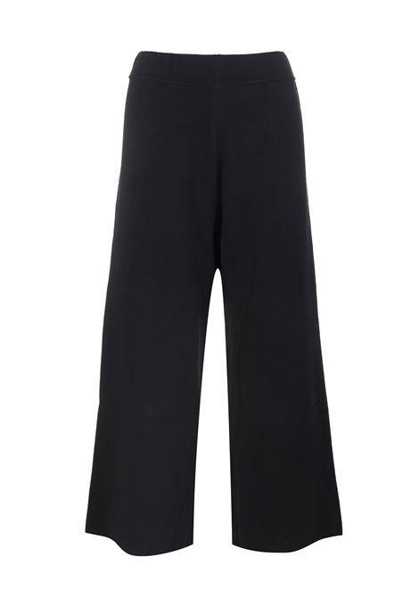 Woman Crop Trousers In Black Wool FEDELI | trousers | 3DI0078CE4