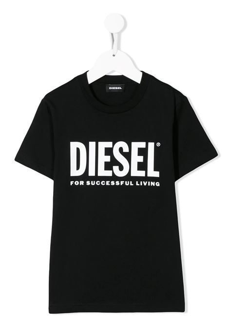 T-Shirt Kids Nera Con Logo Oversize Bianco DIESEL KIDS | T-Shirts | 00J4P6-00YI9K900