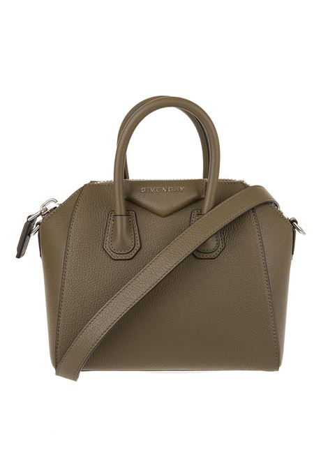 Mini Antigona Bag In Brown Grained Leather GIVENCHY | Bags | BB05114012313