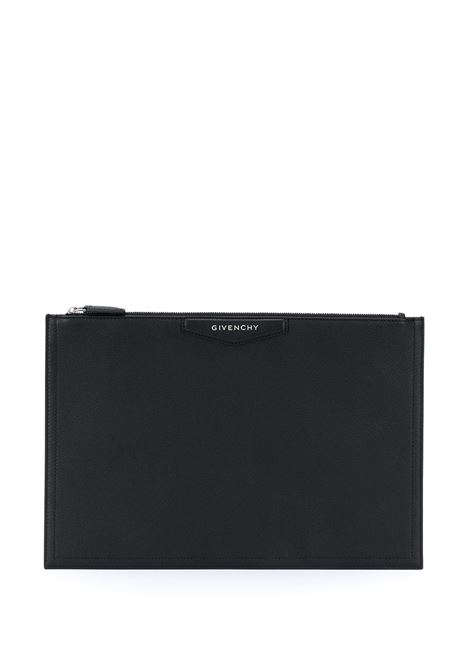 Medium Antigona Clutch In Black Grain Leather GIVENCHY | Bags | BB609CB00B001
