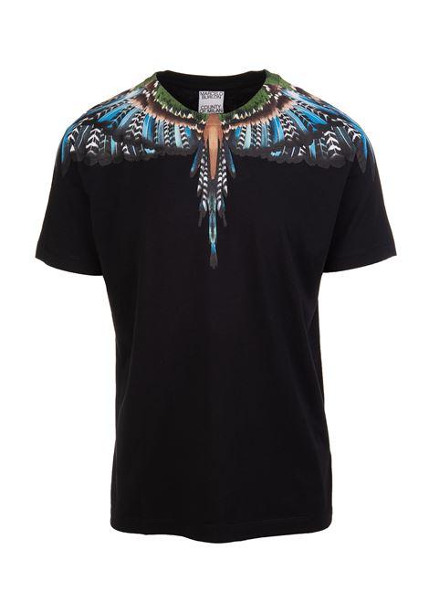 Man Grizzly Wings Black T-Shirt MARCELO BURLON | t-shirts | CMAA018F21JER0031040