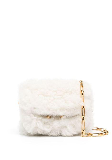 Borsa Micro In Shearling Bianco Con Catena Dorata MARNI | Borse | SBMP0085Q0-LM071Z445I